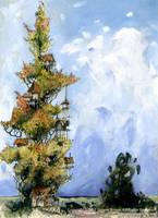 Treehouse Poplar by GabrielEvans