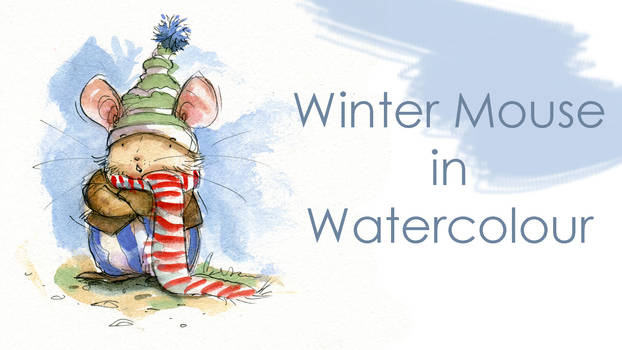 Painting a Winter Mouse - Illustration Video