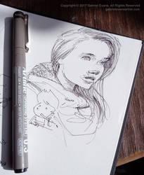 Portrait Sketch by GabrielEvans