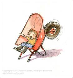 Wheelbarrow Chair by GabrielEvans