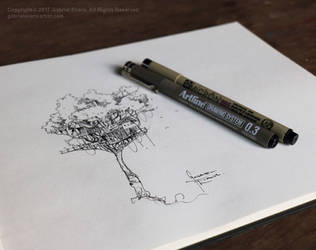 Ten Minute Treehouse Drawing by GabrielEvans