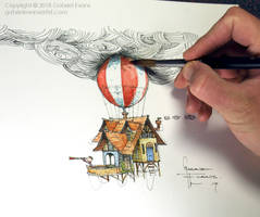 Balloon House Design For Int. Board on Books by GabrielEvans