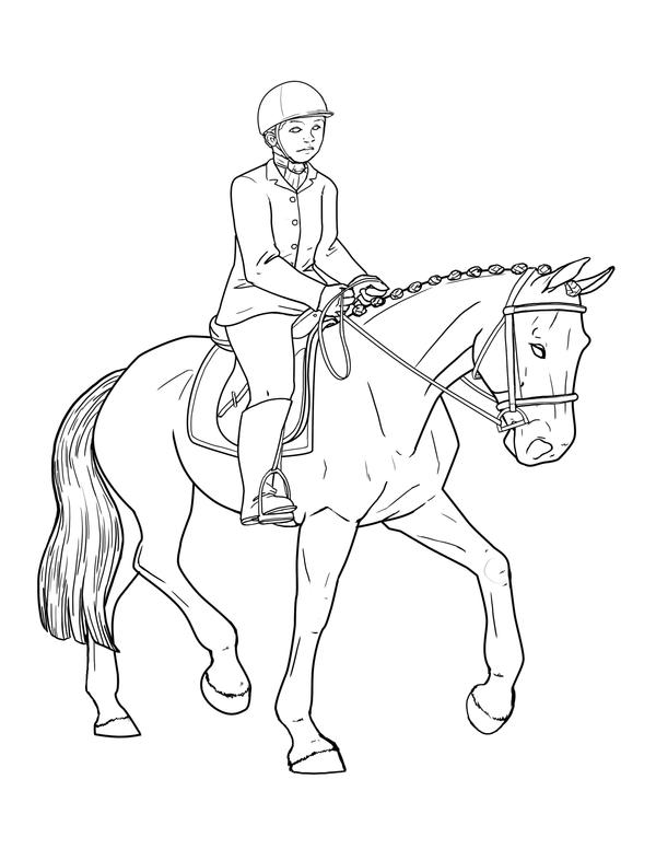 Coloring Book Dressage Page By Vamtaro On Deviantart