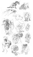 Creature Sketch Page