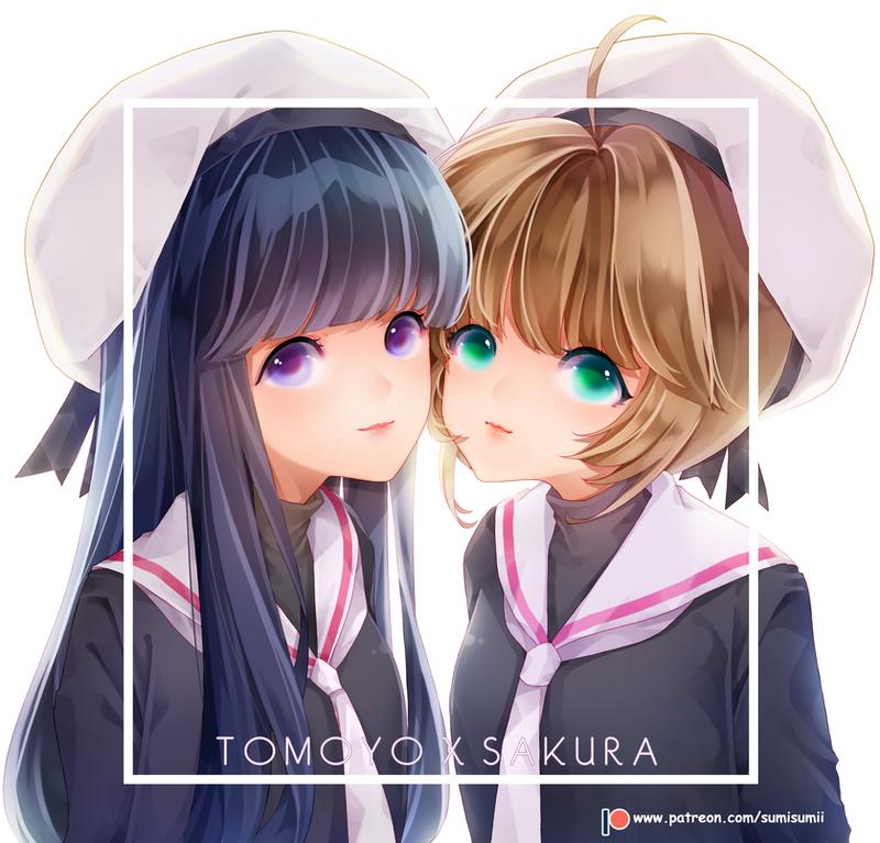 Tomoyo x Sakura by sumisumii