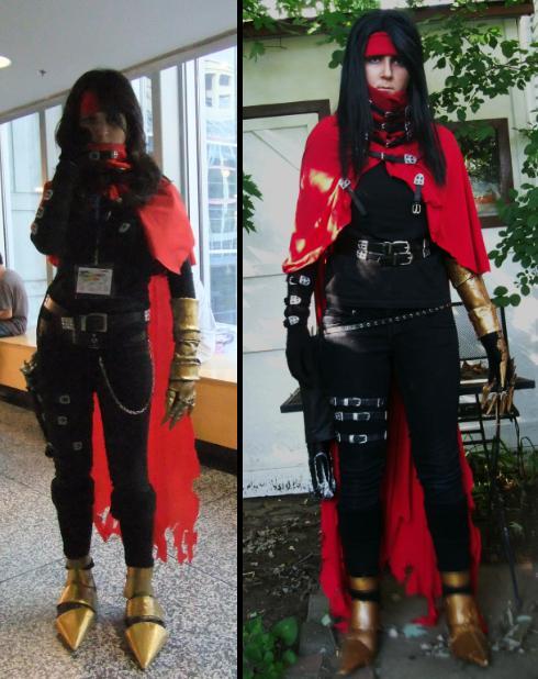 Vincent Valentine cosplay comparison by Crimson-rose-x