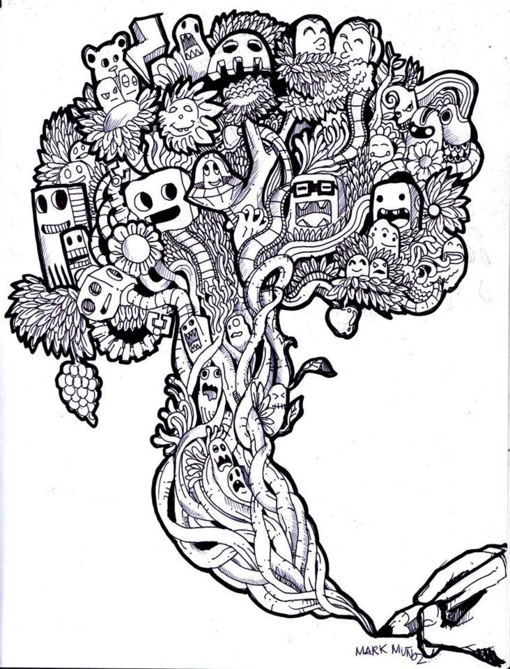 Holiday Coloring Pages Tree Of Life Doodle Haha By Mmark1991