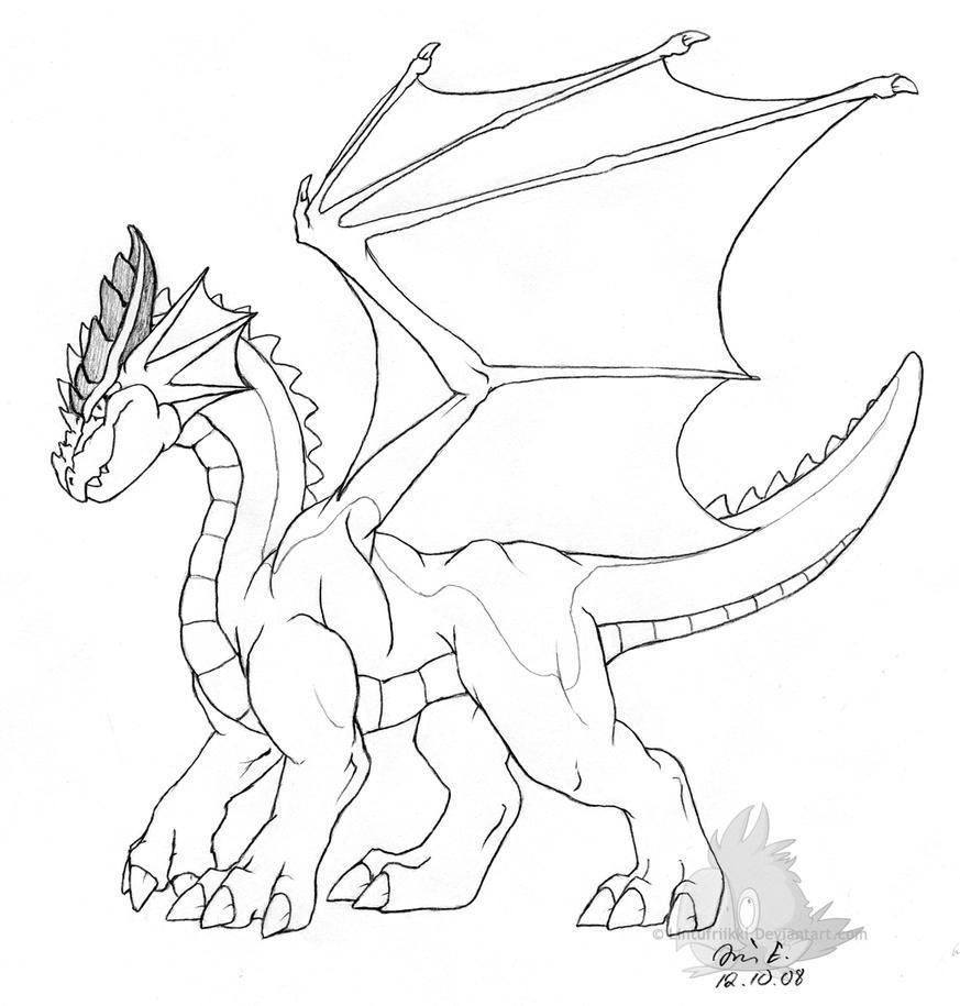 dragon sketch 2 by lintufriikki on deviantart