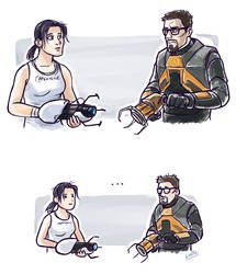 What if Chell and Gordon met? by Lintufriikki