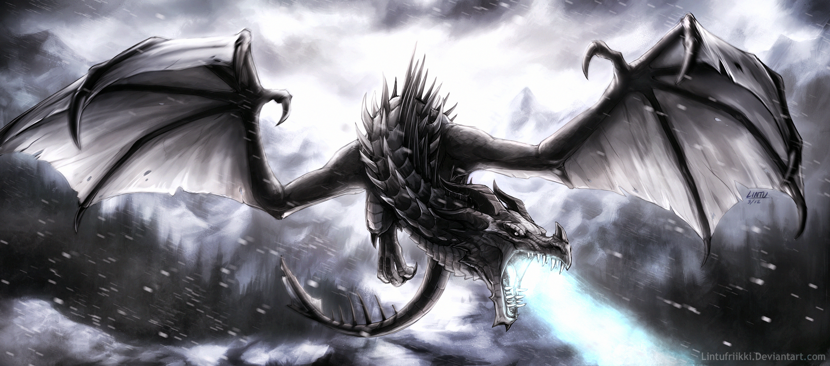 Frost dragon by Lintufriikki on DeviantArt