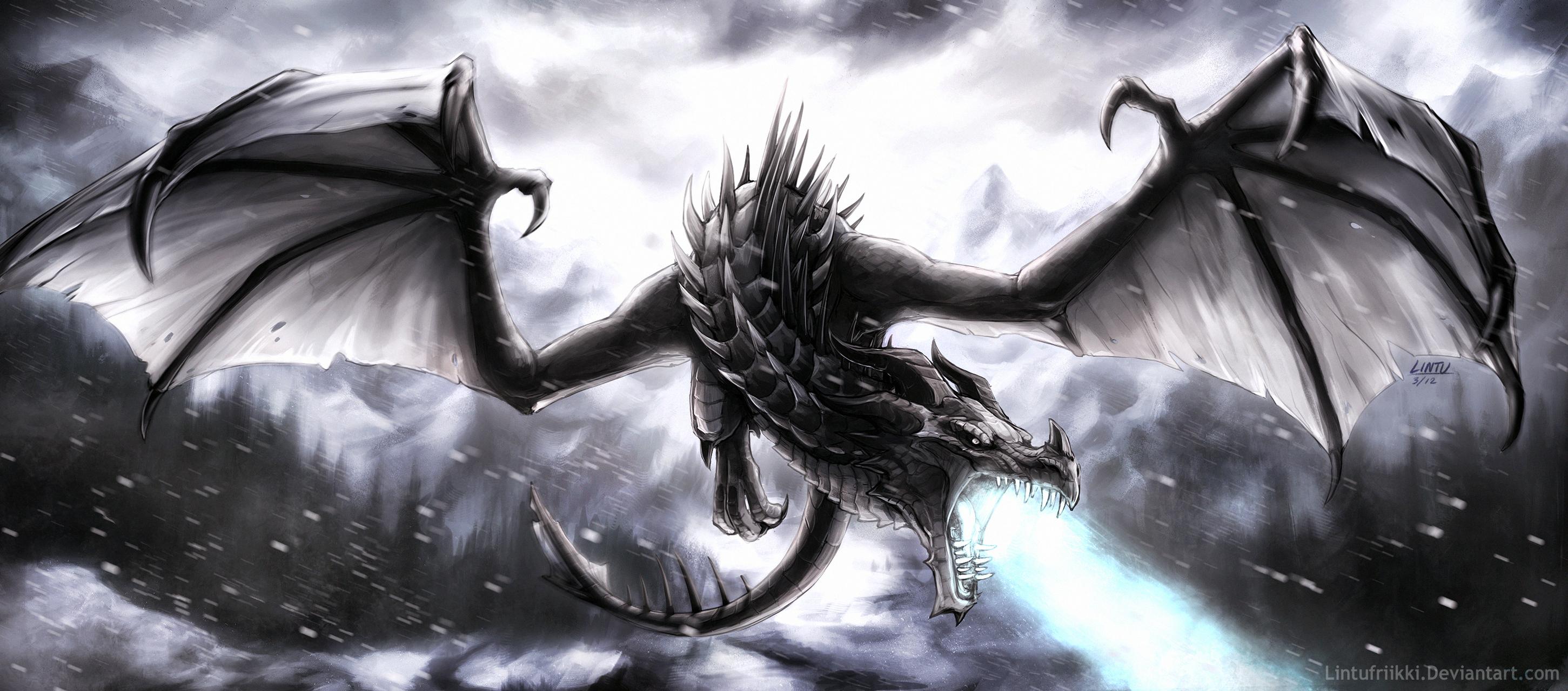 Frost dragon by Lintufriikki on DeviantArt