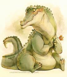 Bashful croc