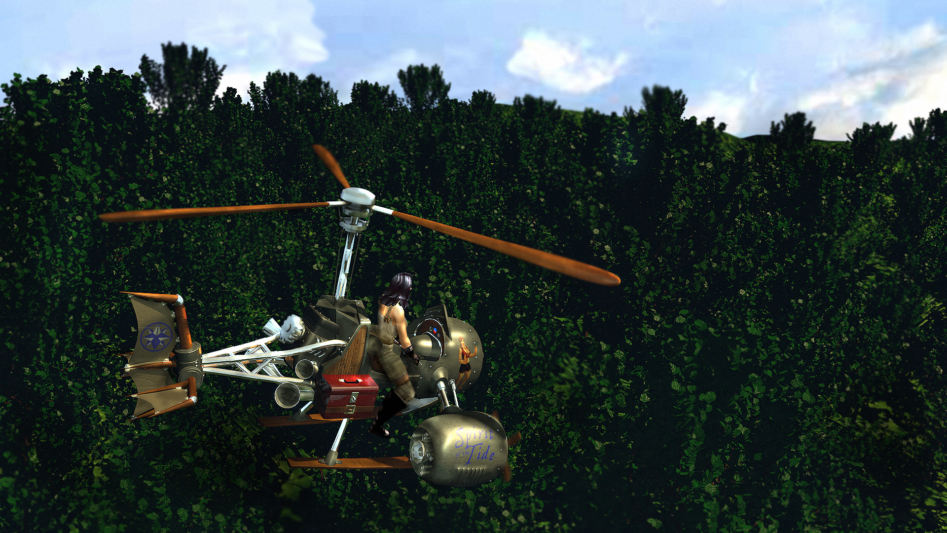 Gyrocopter flight - All star bar and grill