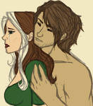 Rogue and Gambit - tears