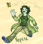 Homestuck: a Nep chasing a butterfly