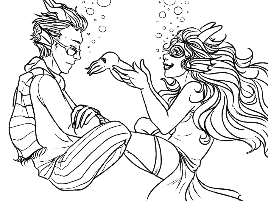 Homestuck coloring pages coloring pages for Cuttlefish coloring pages