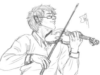 Les Miserables: VIOLINS ARE REALLY HARD TO DRAW