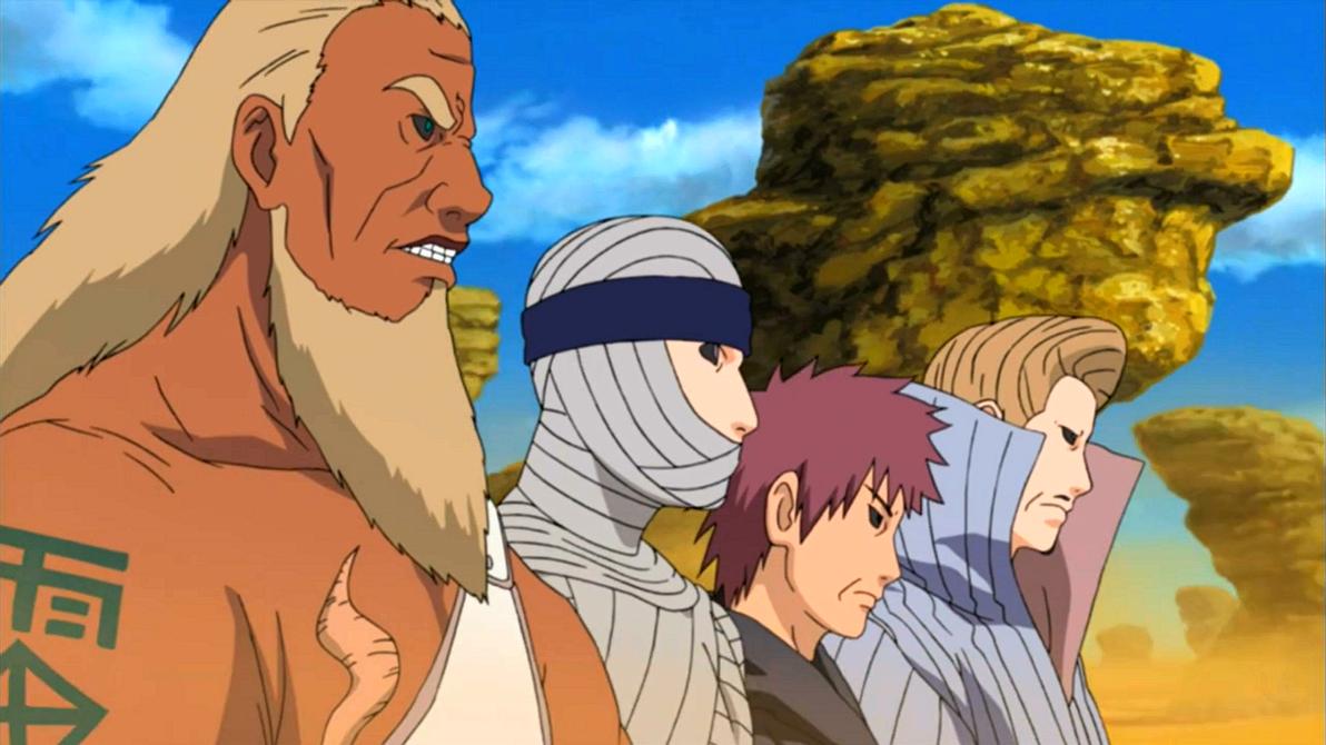 Spoilers conoce a los anteriores kages del pasado akiba for Cuarto kazekage vs orochimaru