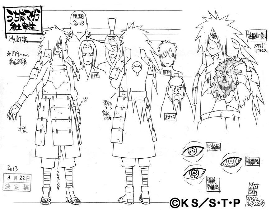 Naruto Character Design Sheet : Edo madara by pablolpark on deviantart