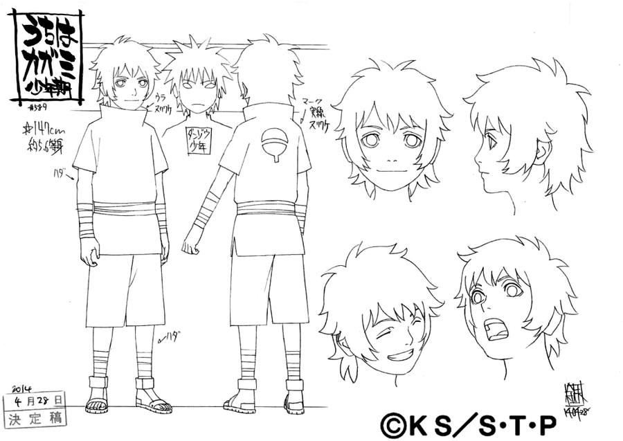Naruto Character Design Sheet : Naruto official concept art studio pierrot