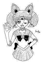 Sailor Chibi Moon - Inktober 2020 Day 28 by Gakenzi