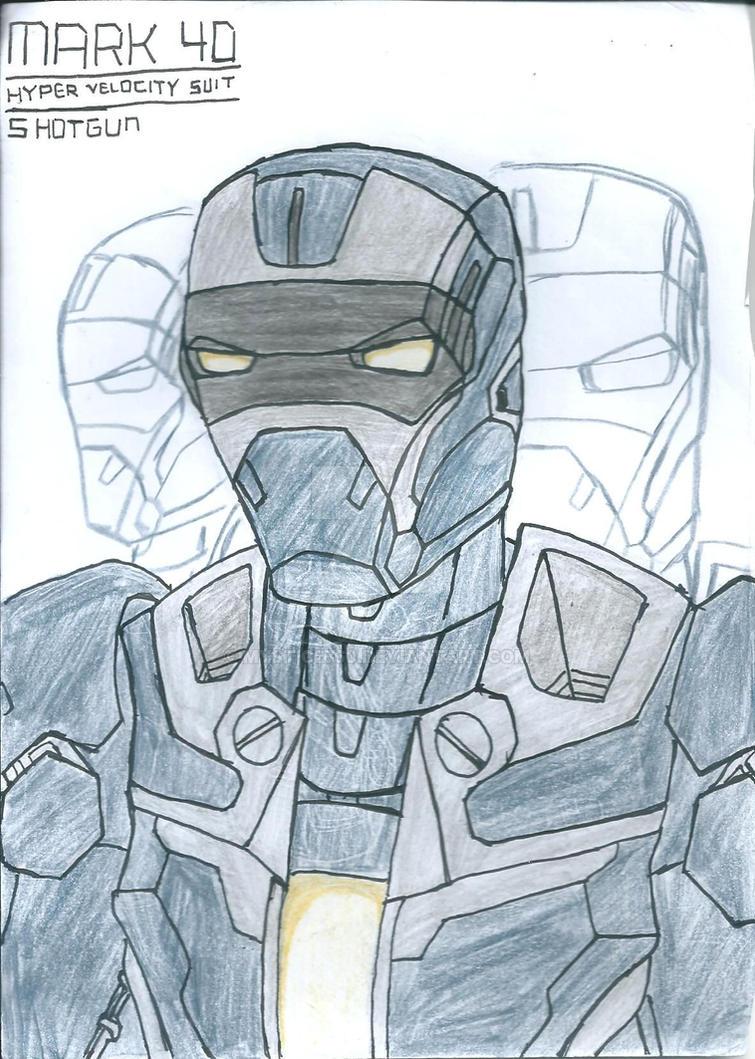 Iron Man 3: Mark 40-Shotgun bust by Mystic2760 on DeviantArt