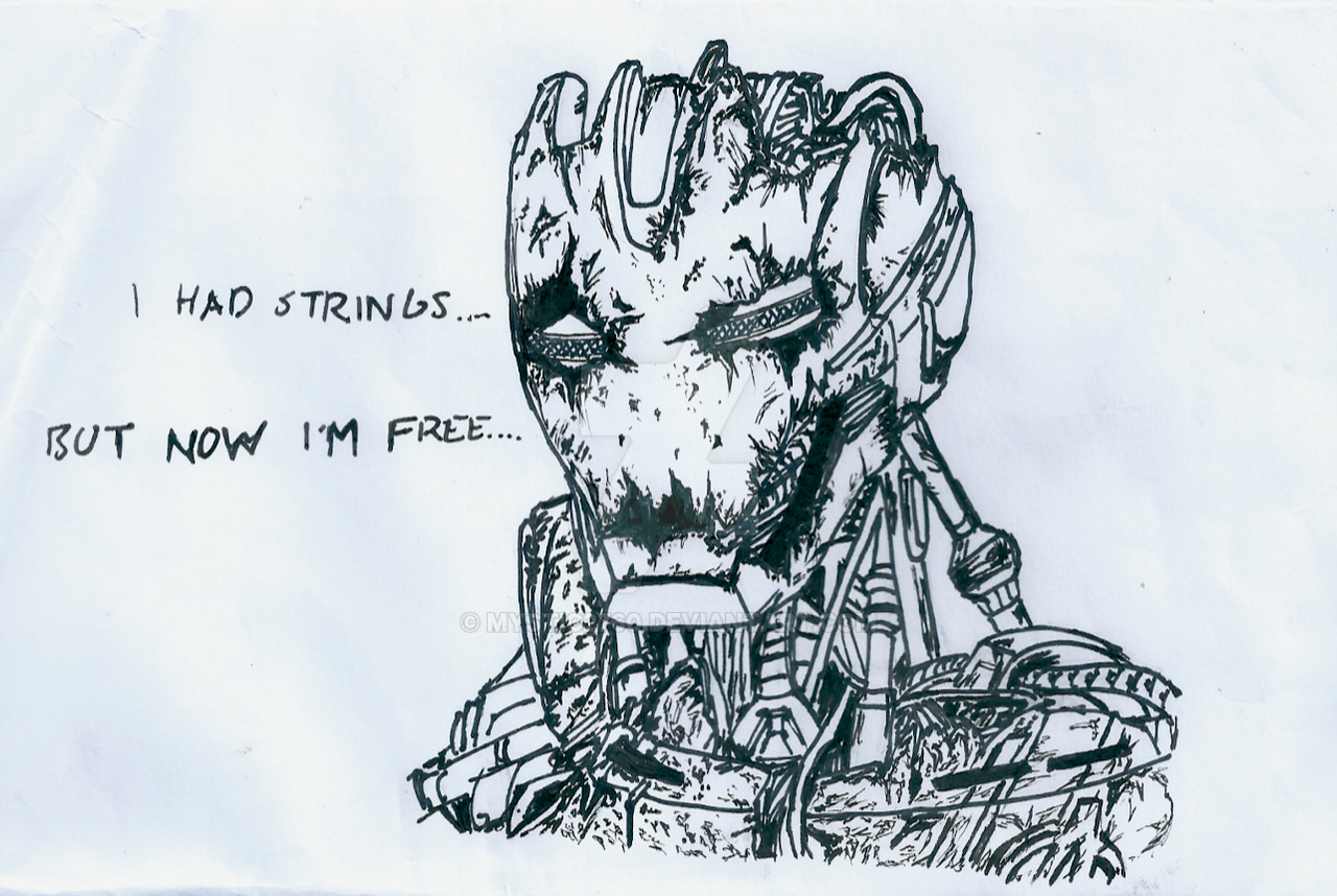Avenger Age Of Ultron Sketch: I Had Strings... By Mystic2760