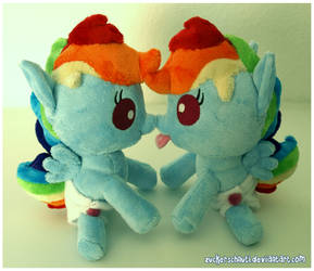 Baby Rainbow Dash ..double trouble by zuckerschnuti