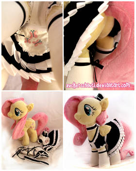 Fluttershy maid dress detail view