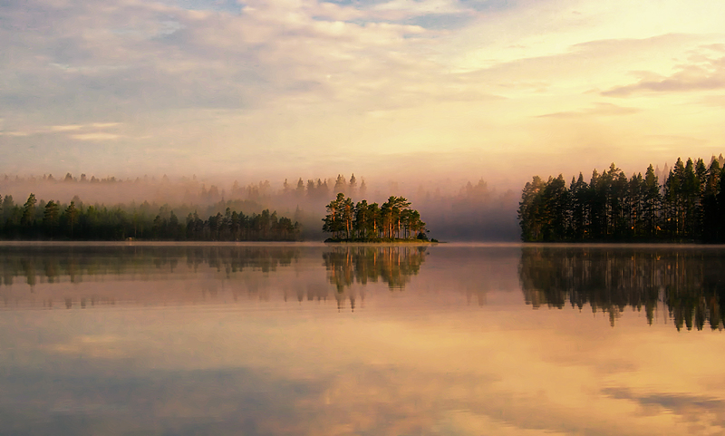 Misty Lake IIII by RobinHedberg