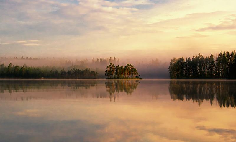 Misty Lake IIII by RobinHedberg
