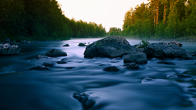 Blue river by RobinHedberg