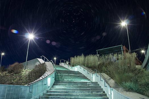 Stairway at night