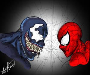 Venom v Spiderman by smthcrim89