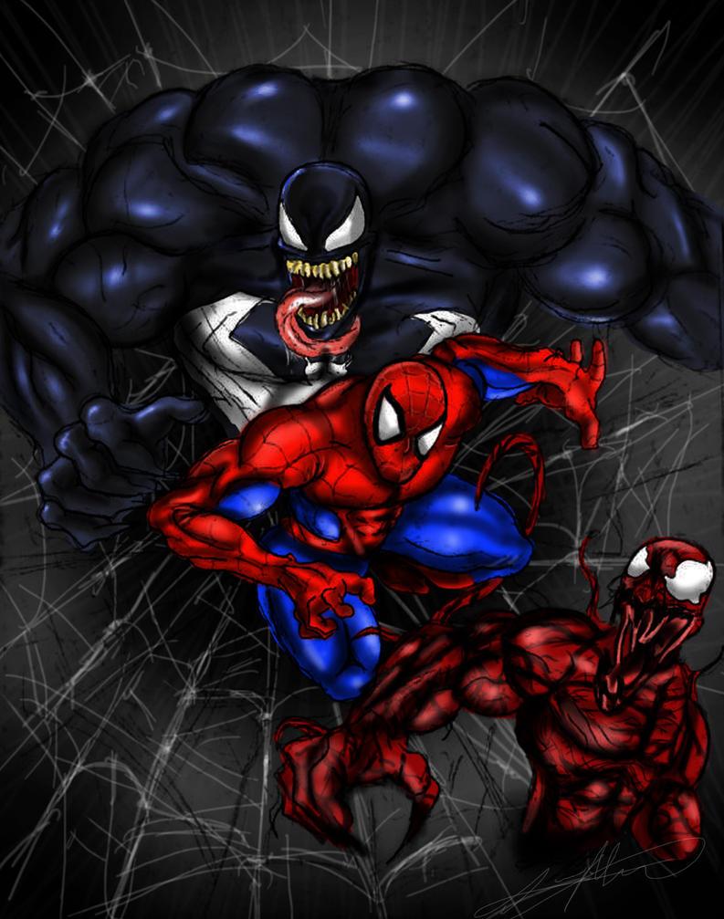 Spider-Man Venom and Carnage by smthcrim89Venom Spiderman 4
