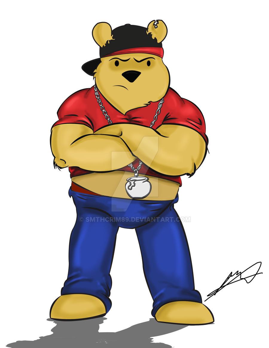 winnie the pooh gangsta by smthcrim89 on deviantart