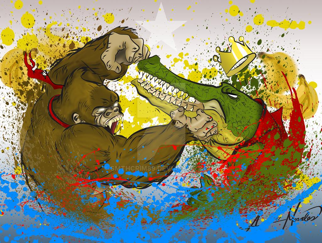 Donkey-Kong: Battle for Bananas by smthcrim89