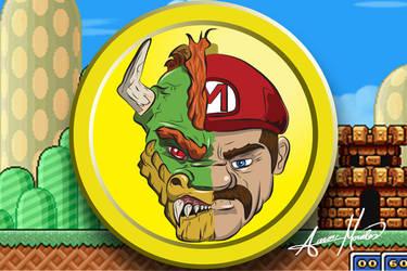 Mario-Bowser-Portrait by smthcrim89
