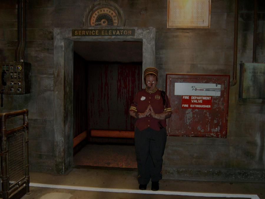 Hollywood Tower Hotel Elevator on Halloween Night