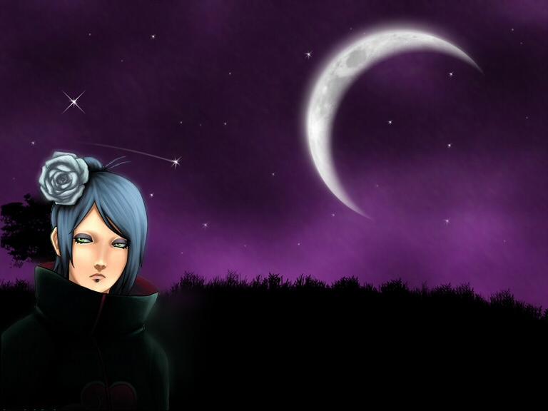 Konan purple moon wallpaper by wardemonx on deviantart - Purple moon wallpaper ...