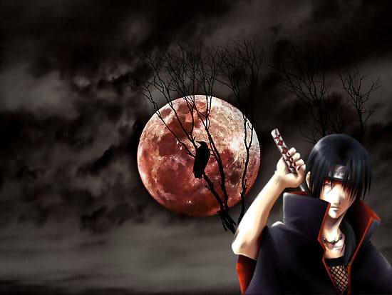 Itachi Blood Moon Wallpaper By Wardemonx On Deviantart