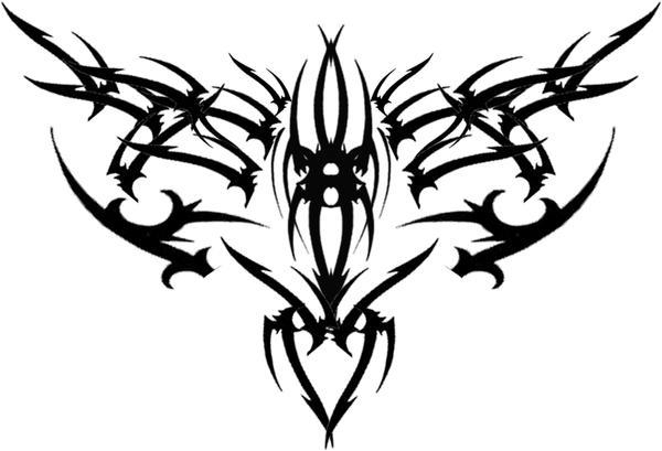 gothic tribal back tat v1 by runeflame on deviantart. Black Bedroom Furniture Sets. Home Design Ideas