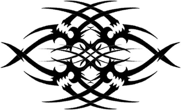 tribal gothic flower tattoo by runeflame on deviantart. Black Bedroom Furniture Sets. Home Design Ideas