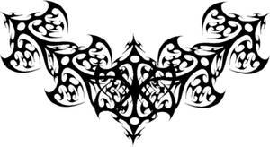 Gothic Black Filigree Tattoo
