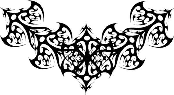 Gothic Black Filigree Tattoo by Runeflame