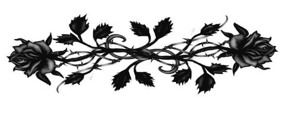 Black Gothic Rose Tattoo by Runeflame
