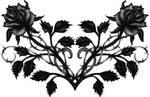 Gothic Black Rose Back Tattoo