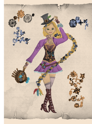 Rapunzel - Engines and Outcasts - Steampunk AU by eliazeravenfeather