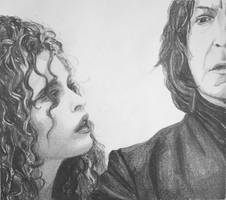 Bella with Snape by ArtLucie