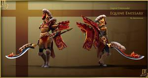 Legion Commander Equine Emissary set by Anuxinamoon